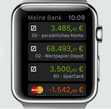Deutsche Bank Apple Watch App - Screenshot.