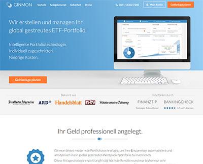 Ginmon Online - maßgeschneiderte ETFs .