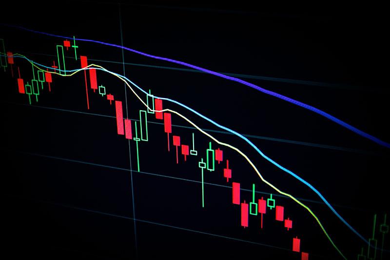 Aktienmarkt Bewegung auf und ab