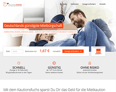 kautionsfuchs.de Website Screenshot