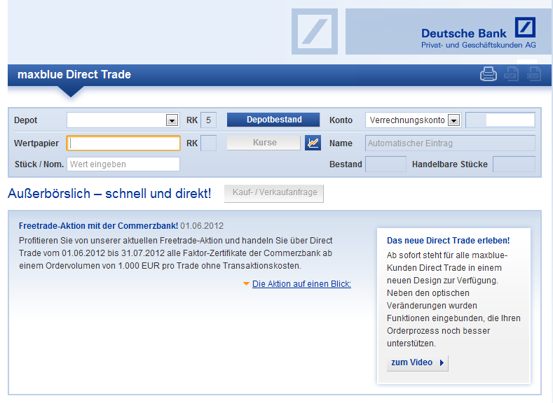 Screenshot maxblue direct trade